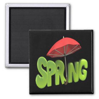 Primavera 4 imán cuadrado