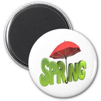 Primavera 4 imán redondo 5 cm