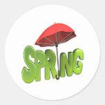 Primavera 4 pegatina redonda