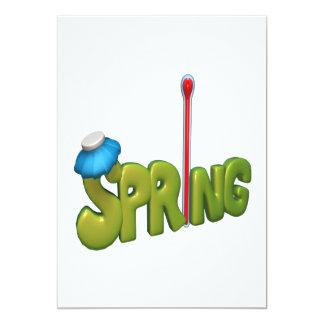 """Primavera 5 invitación 5"""" x 7"""""""