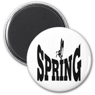 Primavera 6 imán redondo 5 cm