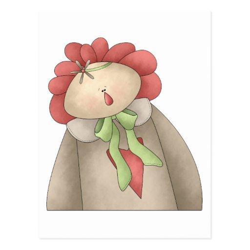 Primavera agradable · Annie rojo y de color topo Tarjetas Postales