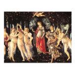 Primavera / Allegory of Spring by Botticelli Postcard