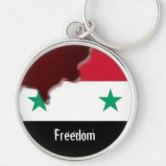 Primavera árabe de la revolución de Siria somos to Llavero Redondo Plateado