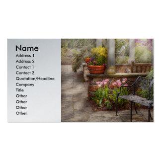 Primavera - banco - un lugar a retirarse tarjetas de visita
