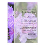 """Primavera/boda florales púrpuras elegantes del invitación 5.5"""" x 7.5"""""""