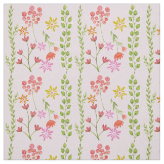 Primavera bonita de la acuarela floral telas
