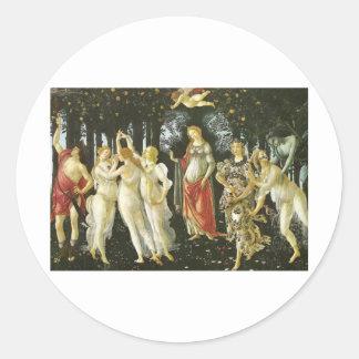 Primavera - Botticelli Classic Round Sticker