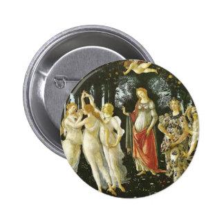 Primavera - Botticelli Pinback Button