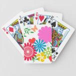 Primavera colorida floral barajas de cartas
