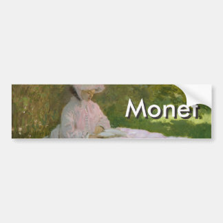 Primavera de Claude Monet Pegatina Para Auto