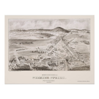 Primavera de hundimiento, mapa panorámico del PA - Poster