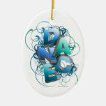 primavera de la danza 3D Ornamentos De Navidad