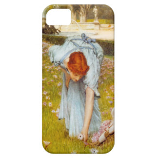 Primavera de Lorenzo Alma Tadema en el jardín iPhone 5 Case-Mate Protectores