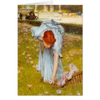 Primavera de Lorenzo Alma Tadema en el jardín Tarjetas