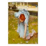 Primavera de Lorenzo Alma Tadema en el jardín Tarjeta De Felicitación