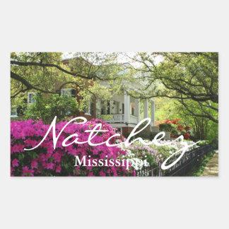 Primavera de Natchez Mississippi Etiqueta