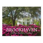 Primavera de preguerra de Brookhaven Mississippi Tarjetas Postales