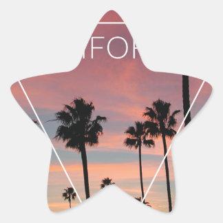 Primavera de Sun del Palm Beach de Wellcoda Pegatina En Forma De Estrella