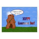 Primavera del día de Groundhog feliz del día de la Tarjetón