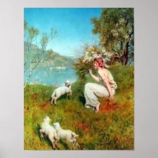 Primavera del minero de Juan (1850-1934) Impresiones