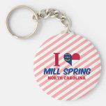Primavera del molino, Carolina del Norte Llaveros