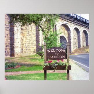 Primavera del viaducto del cantón impresiones