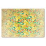 Primavera del vintage floral en amarillo papel de seda pequeño