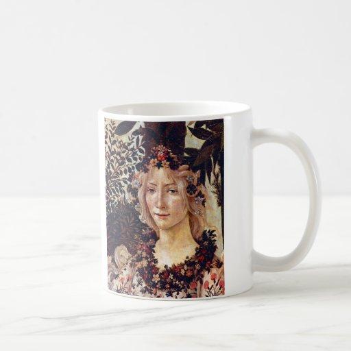 Primavera, detail Flora, Botticelli c. 1482 Coffee Mug