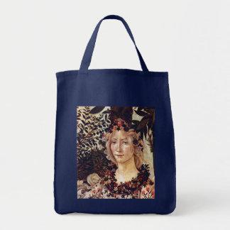 Primavera, detail Flora, Botticelli c. 1482 Tote Bag
