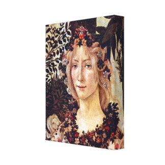 Primavera, detail Flora by Alessandro Botticelli Canvas Print