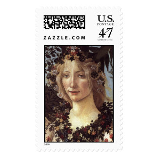 Primavera (detail - Flora, Goddess of Spring) Postage