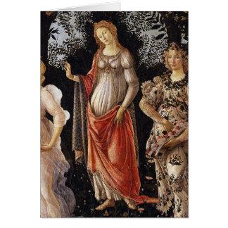 Primavera, Detail of Venus, by Sandro Botticelli Cards