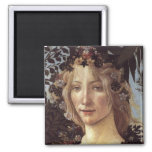 Primavera (detalle - flora, diosa de la primavera) iman de nevera