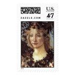 Primavera (detalle - flora, diosa de la primavera) timbre postal