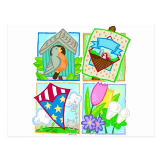 Primavera/diseño estacional del verano tarjetas postales
