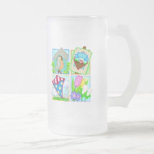Primavera/diseño estacional del verano tazas
