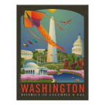 Primavera en la C.C. de Washington Poster