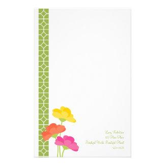 Primavera en la floración papeleria de diseño