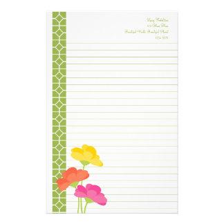Primavera en la floración papeleria personalizada