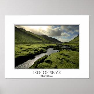 Primavera en montañas escocesas póster