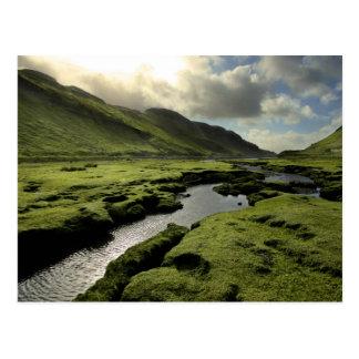 Primavera en montañas escocesas tarjeta postal