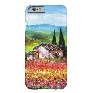PRIMAVERA EN TOSCANA/LOS CAMPOS DE FLOR COLORIDOS FUNDA BARELY THERE iPhone 6