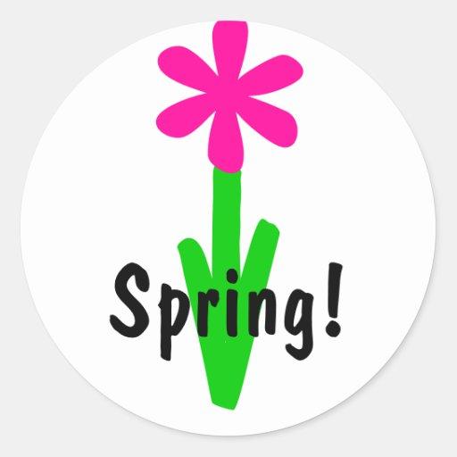 ¡Primavera! Etiquetas Redondas