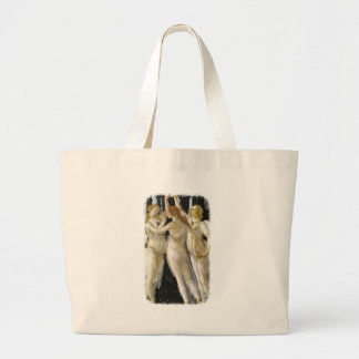 Primavera excerpt Botticelli 1482 Masterpiece Large Tote Bag