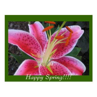 ¡Primavera feliz!! Postal
