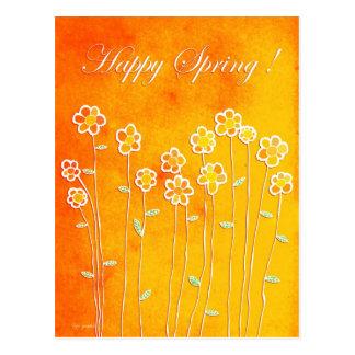 ¡Primavera feliz! Postales