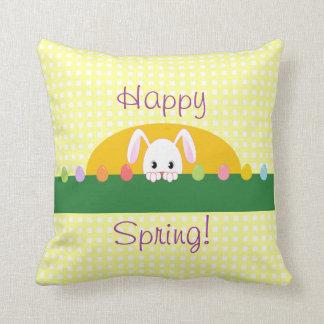 Primavera feliz que mira a escondidas la almohada