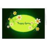 Primavera feliz - tarjeta
