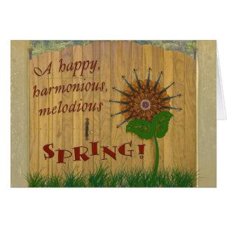 Primavera feliz tarjeta de felicitación